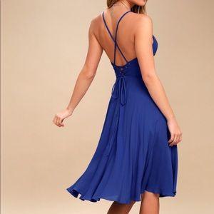 NEW LULUS blue dress
